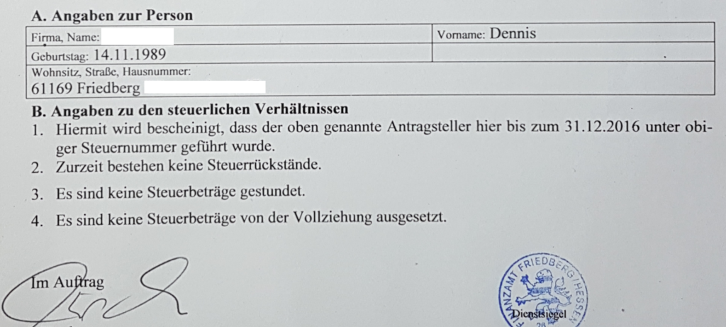Finally dismissed by the German system